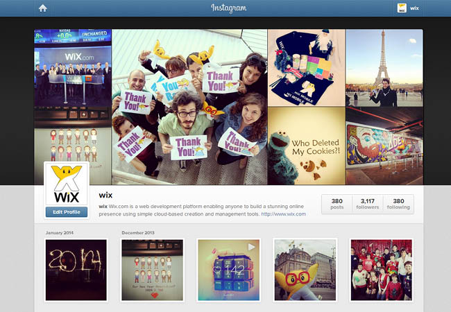 Wix on Instagram