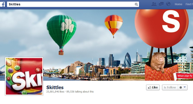 Skittles Facebook Cover Photo