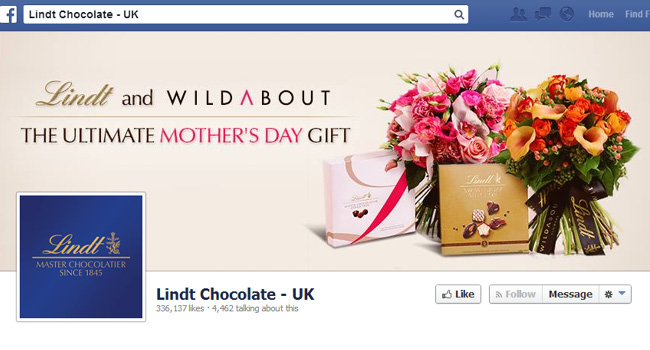 Lindt Facebook Cover Photo