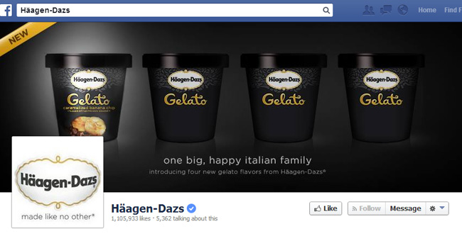 Haggen Dazs Facebook Cover Photo