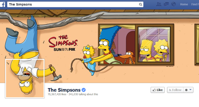 The Simpsons Facebook Cover Photo