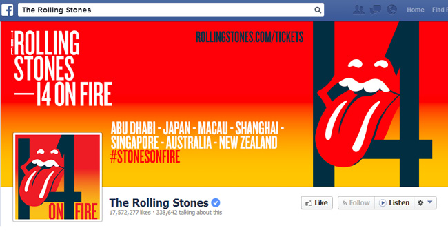 The Rolling Stones Facebook Cover Photo
