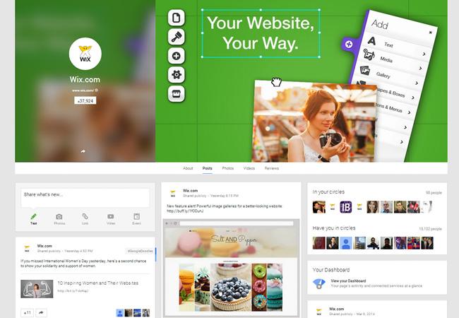 Wix on Google+