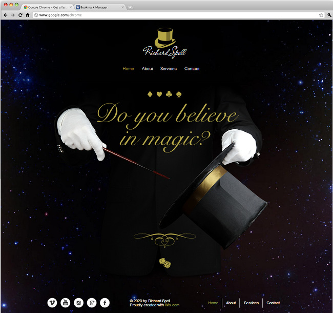 The Magician Website