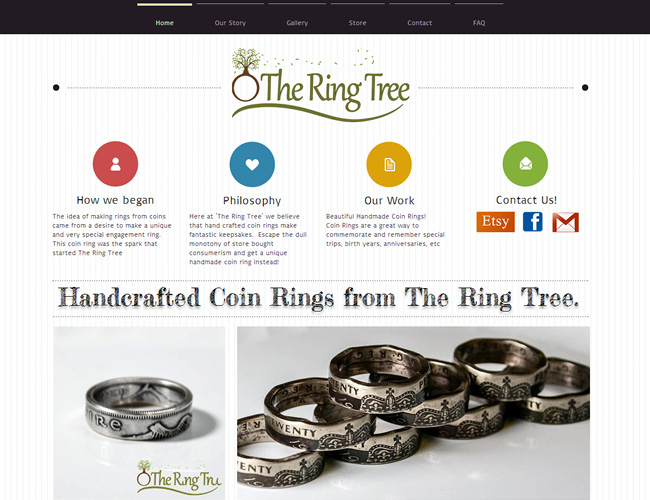 the ring tree - Great Website Design Ideas