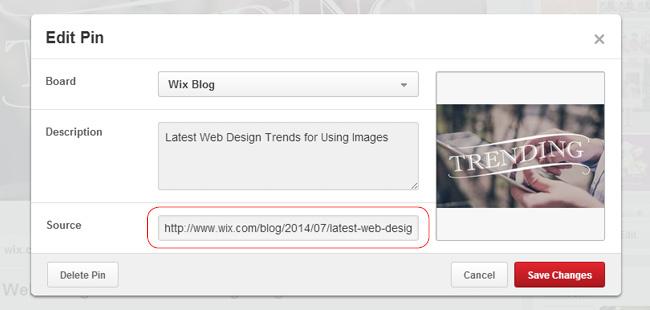 Add a Link to Your Site When Uploading an Image from the Computer