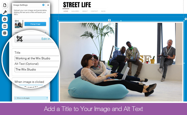 Add Title and Alt Text to your Images