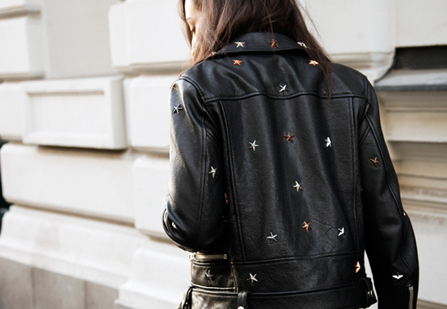 Stars Leather Jacket
