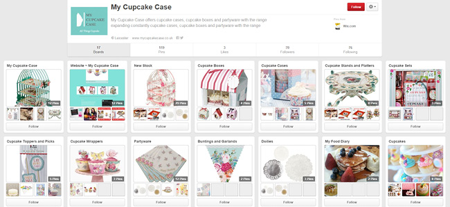 My Cupcake Case | Pinterest Account