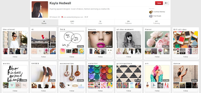 Kayla Hedwall   Pinterest Account
