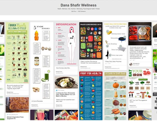 Dana Shafir   Wellness Board