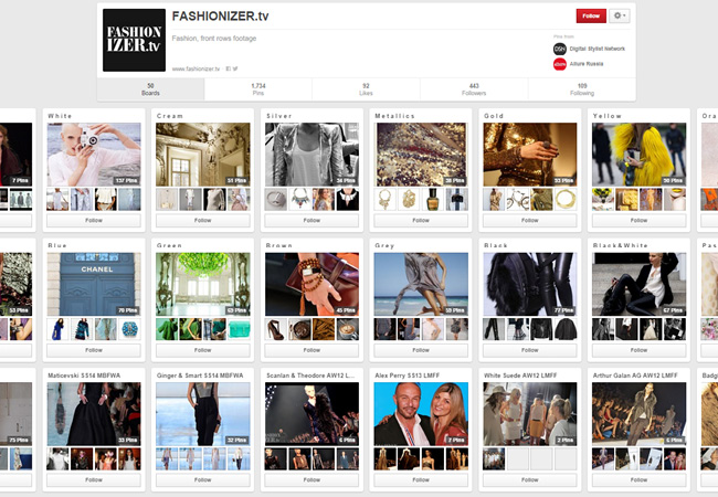 Fashion Izer TV | Pinterest Account