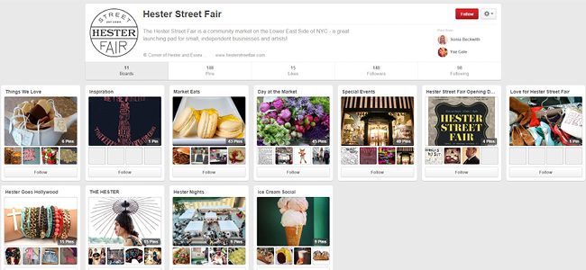 Hesterst Fair | Pinterest Account