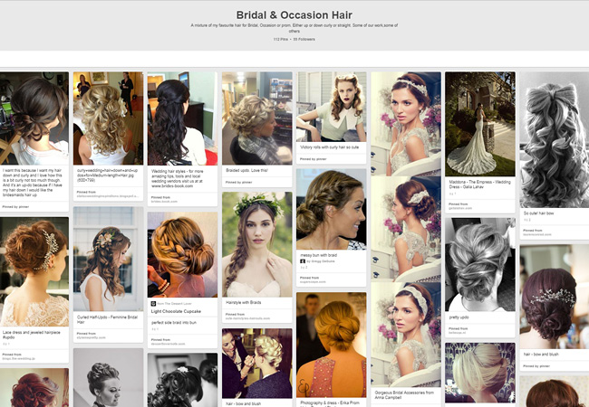 Bow and Blush | Bridal Occasion Hair Board
