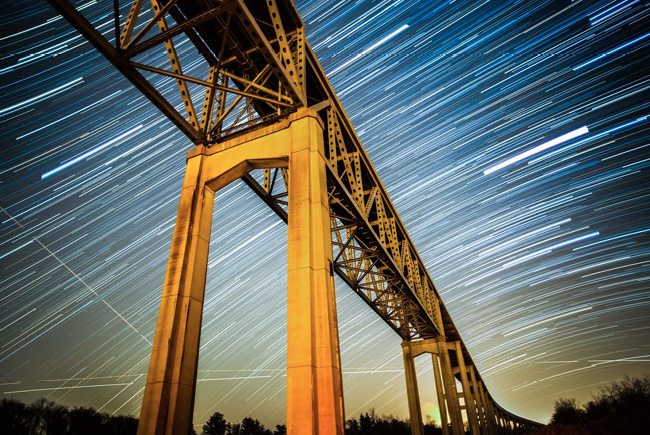 Reedy Point bridge, Delaware by Wes Bunton
