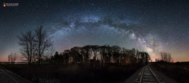 Milky Way in Maine by Mike Taylor