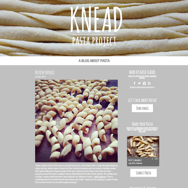 Knead Pasta Project