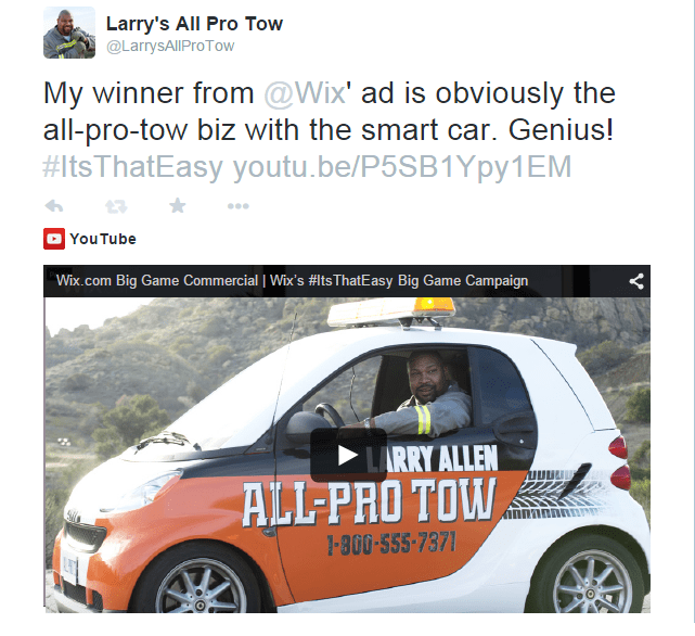 Larry's Contest Tweet copy