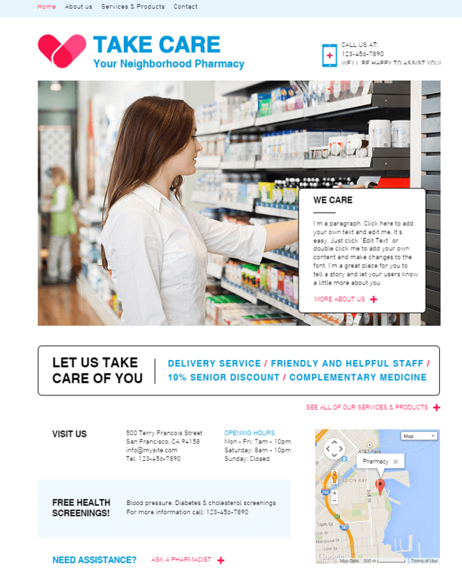 Pharmacy Template