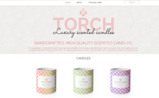 Candle Shop Template