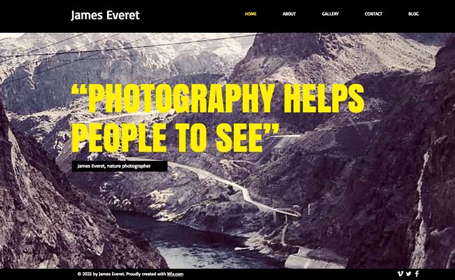 Nature Photographer Template