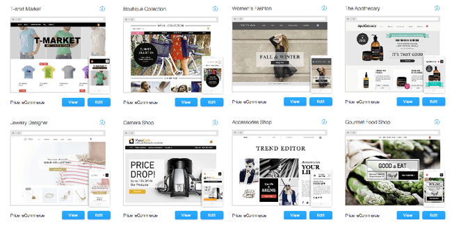 Wix.com eCommerce Websites Templates