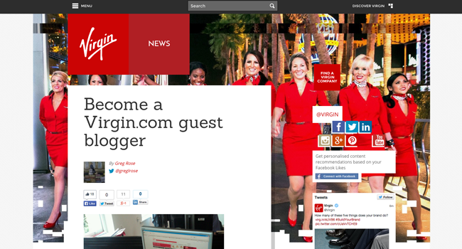 Virgin.com Blog