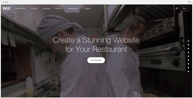 Wix for Restaurants