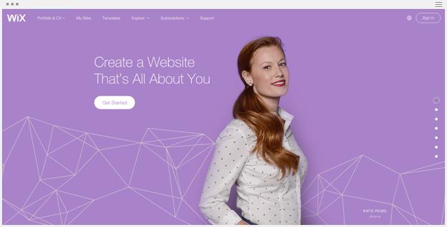 Wix for Online Portfolio