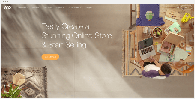 Wix for Online Store