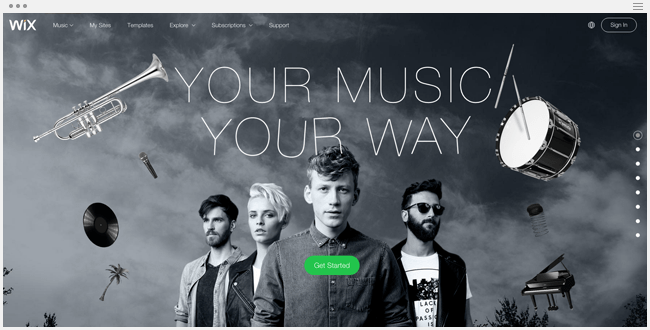 Wix for Music