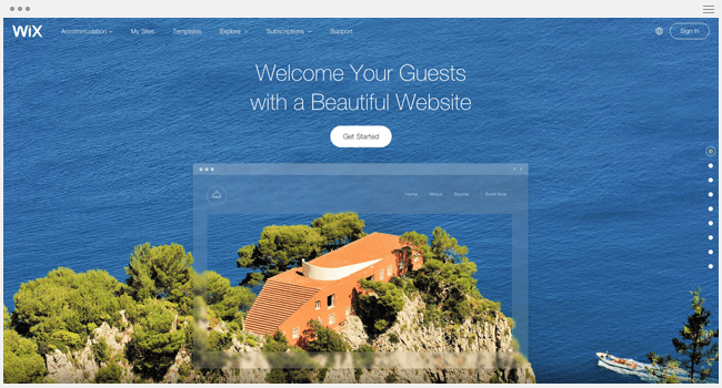 Wix for Hotels