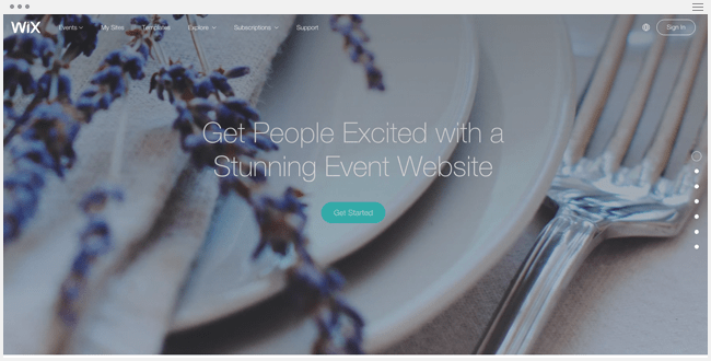 Wix for events