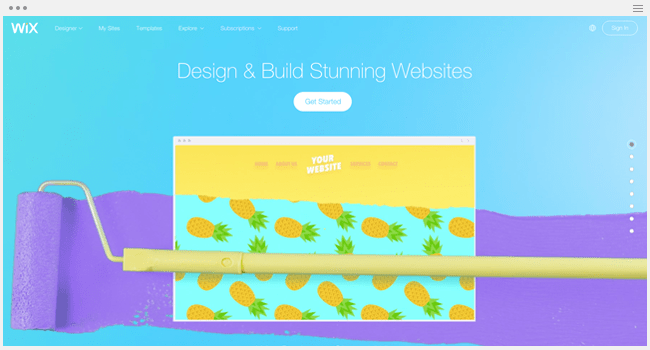 Wix for Designers