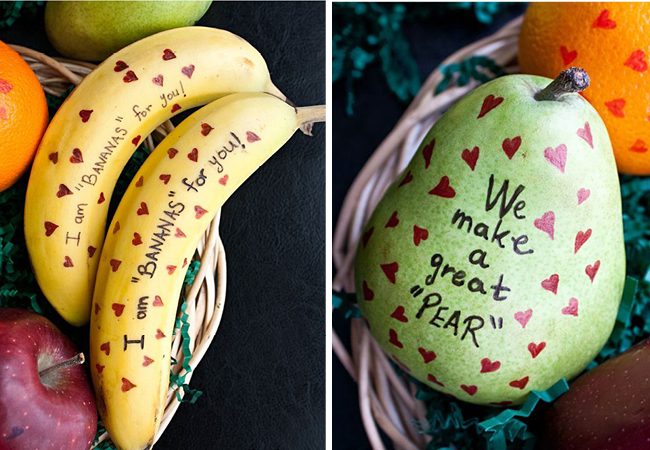 Fruit with Cute Messages