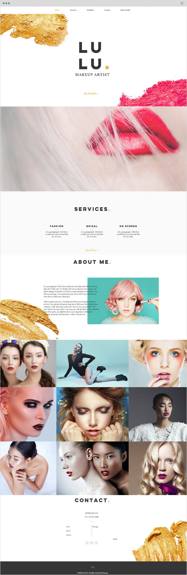 Professional Makeup Website Template