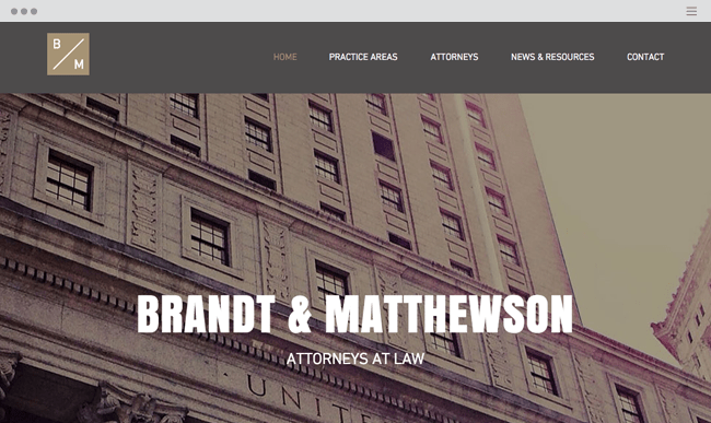 Classic Law Firm Website Template