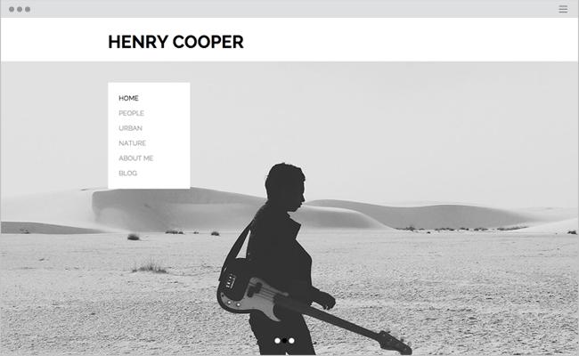 Photography Portfolio Website Template WIX copy