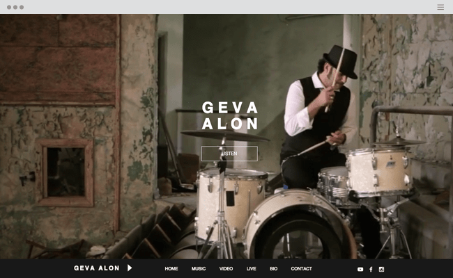 Folk Singer Songwriter Website Template