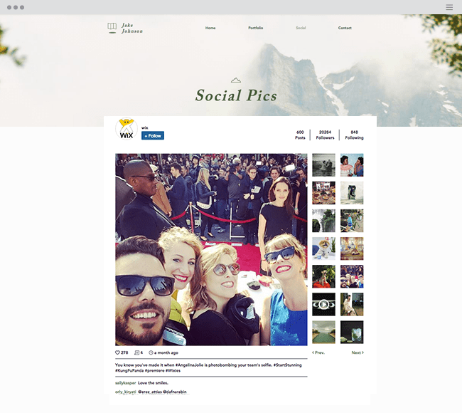 Wix Instagram Feed