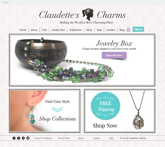 www.claudettescharms.com Handmade Custom Jewelry Designs_site