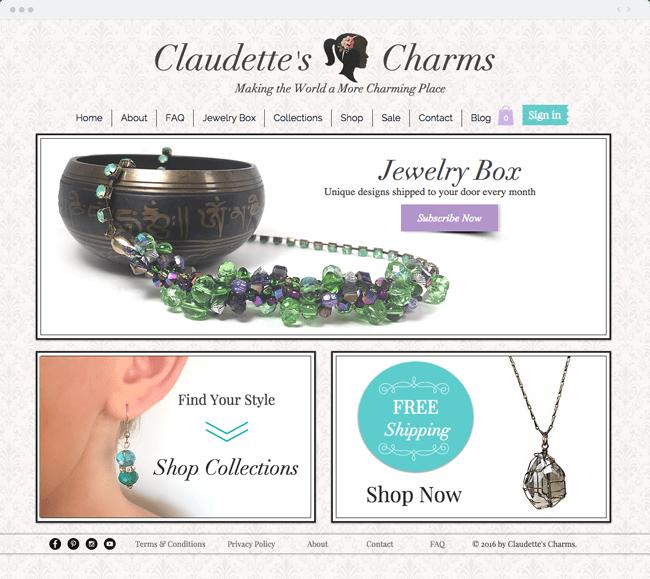 www.claudettescharms.com Handmade Custom Jewelry Designs_site