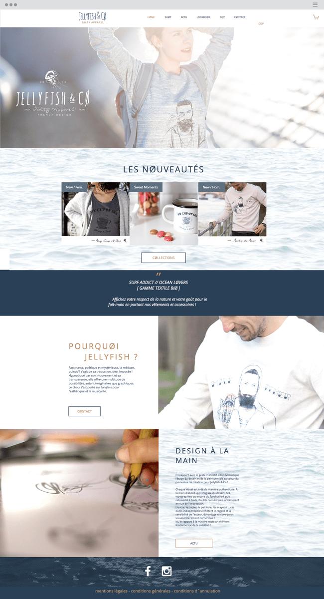 Wix website: jellyfishandco