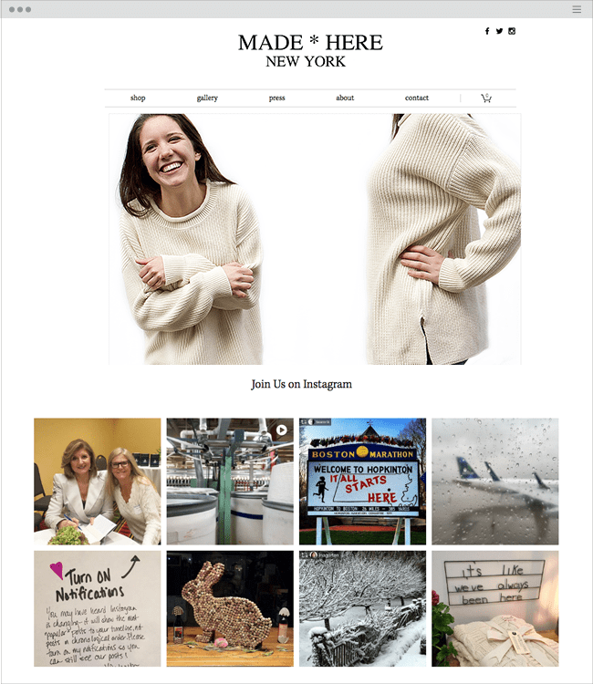 Made Here New York Cotton Sweaters Made in USA