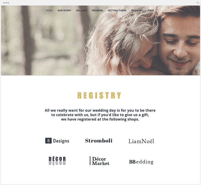 Free Online Wedding Registry
