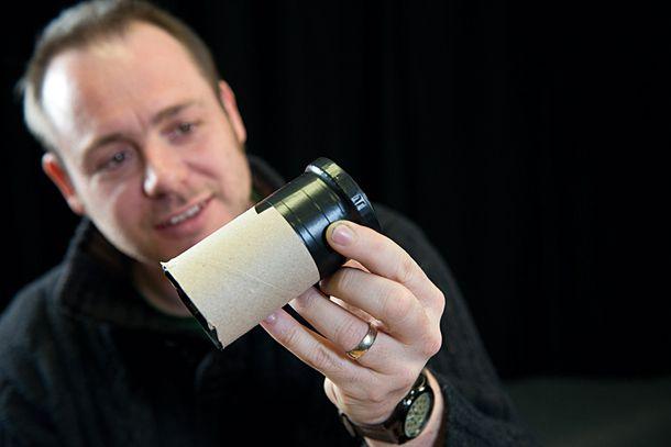 Tuvalet Rulo Makro Lens