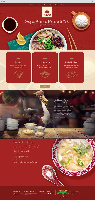 Mr. Ping's Noodles Official Wix Website