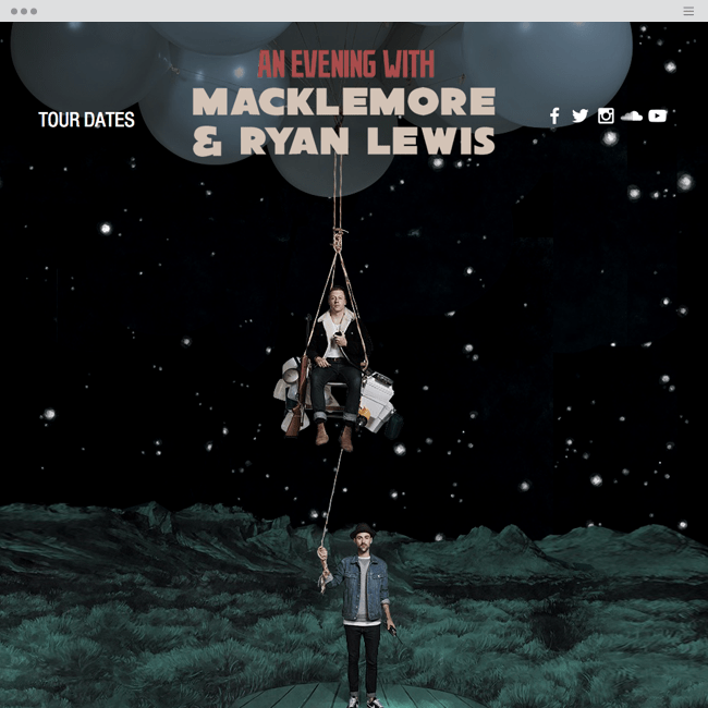 Macklemore and Ryan Lewis Official Wix Tour Website