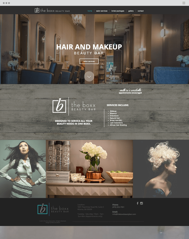 Hair and Makeup Beauty Bar The Boxx Beauty Bar_sitepsd