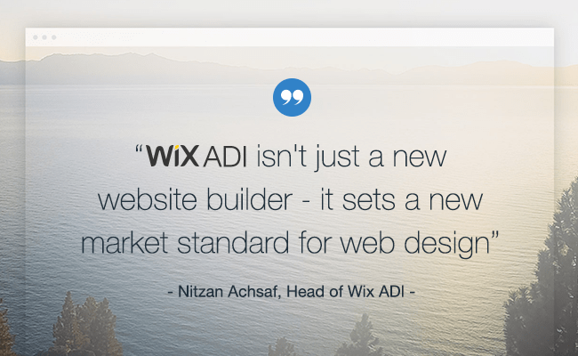 Wix ADI, The Future of Website Creation